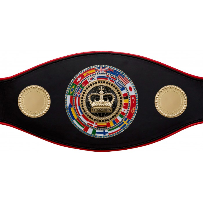 CHAMPIONSHIP BELT PROFLAG/FLAG/G/BLKCRWN - AVAILABLE IN 7 COLOURS